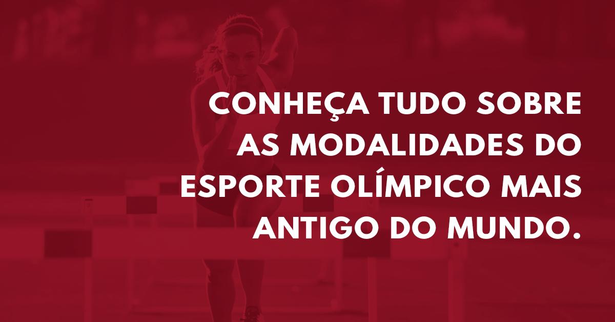 Atletismo: conheça as diversas modalidades deste esporte olímpico