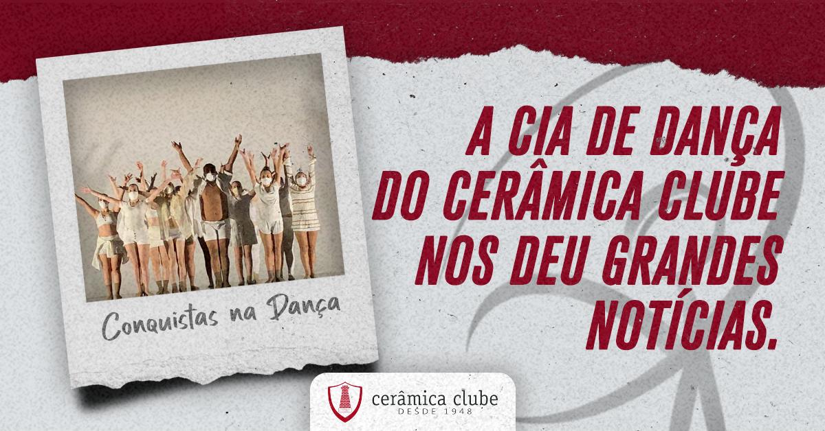 Conquistas na dança: A Cia de Dança do Cerâmica Clube nos deu grandes notícias. Saiba mais!
